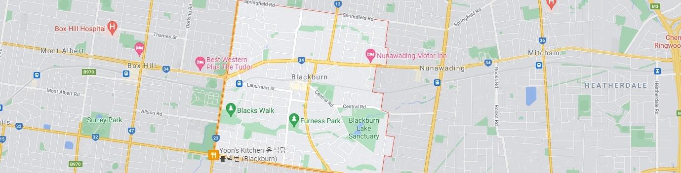 Blackburn area map