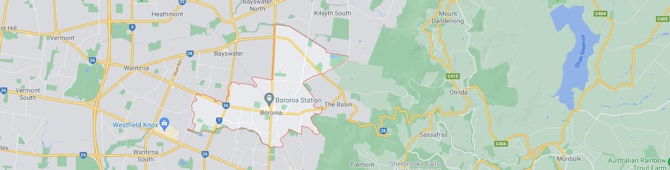 Boronia area map