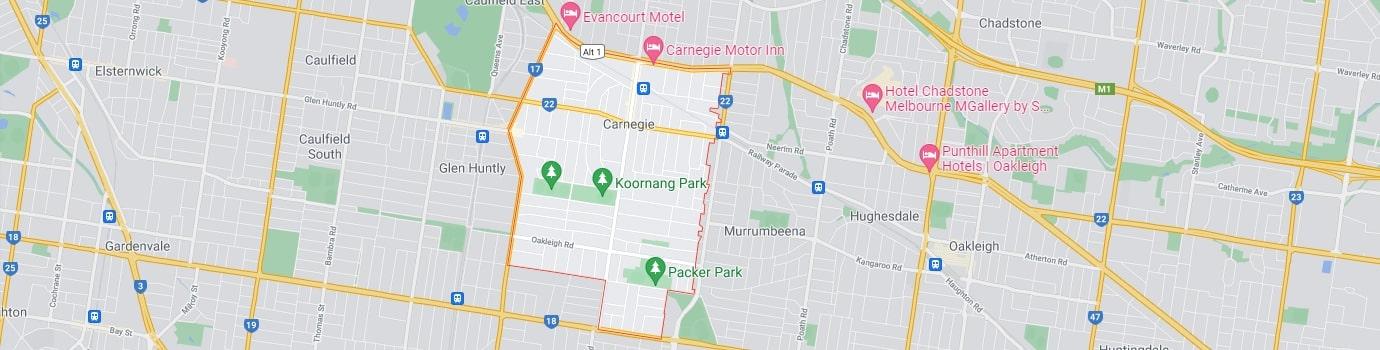 Carnegie area map