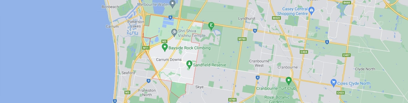 Carrum Downs area map