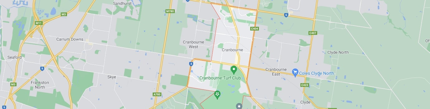 Cranbourne area map