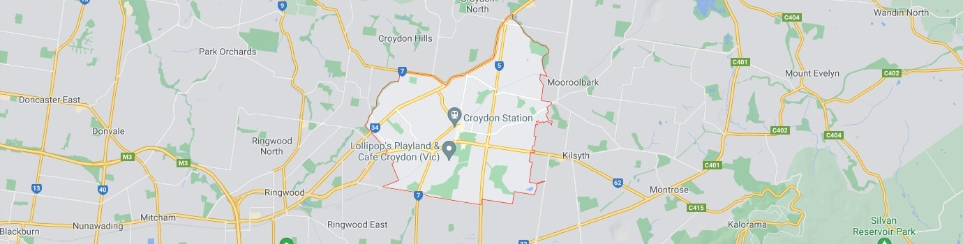 Croydon area map