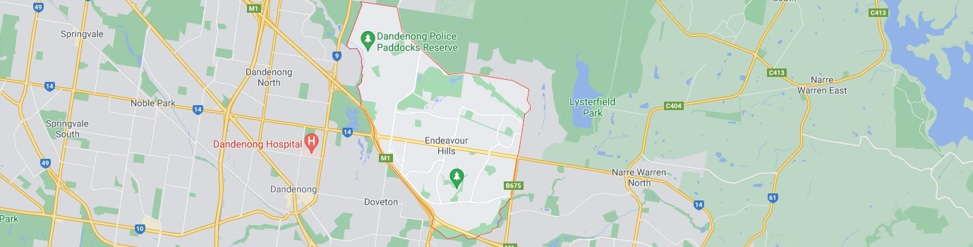Endeavour Hills area map