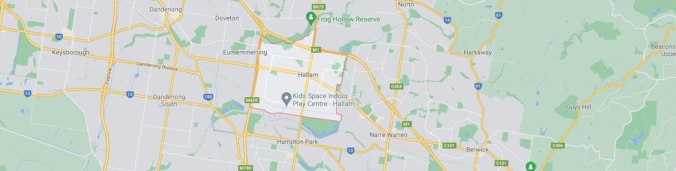 Hallam area map
