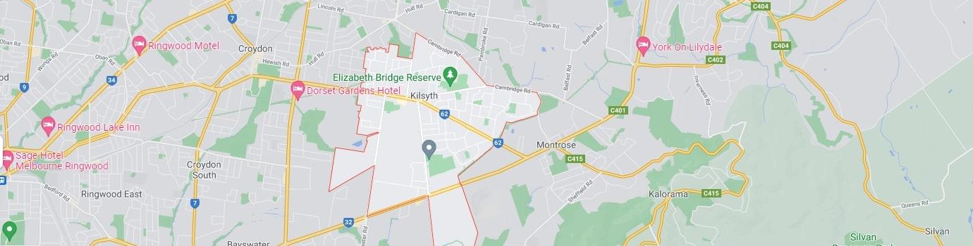 Kilsyth area map