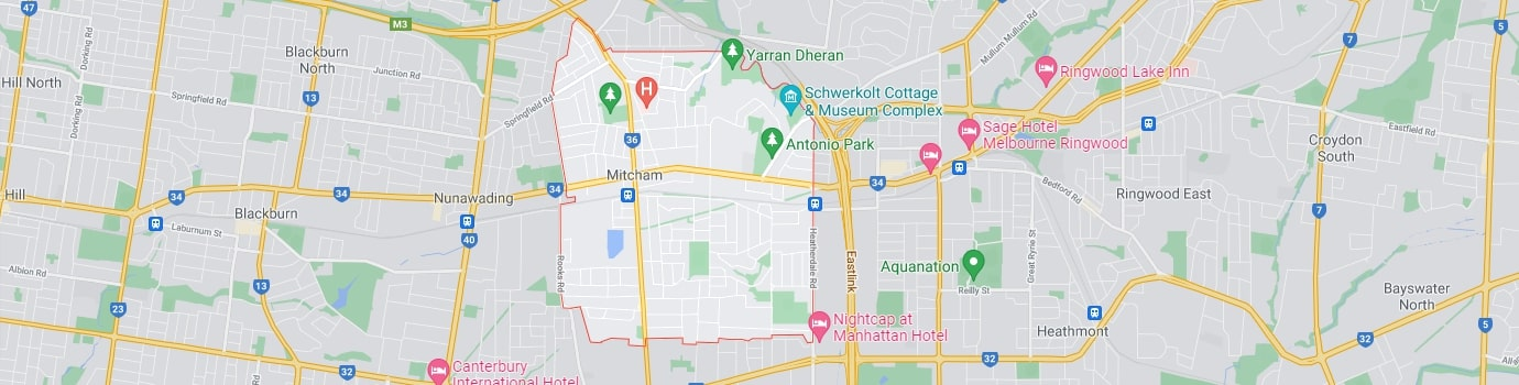 Mitcham area map