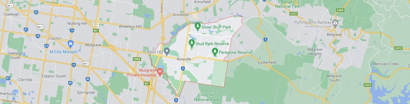 Rowville area map