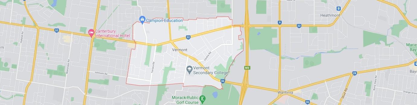 Vermont area map