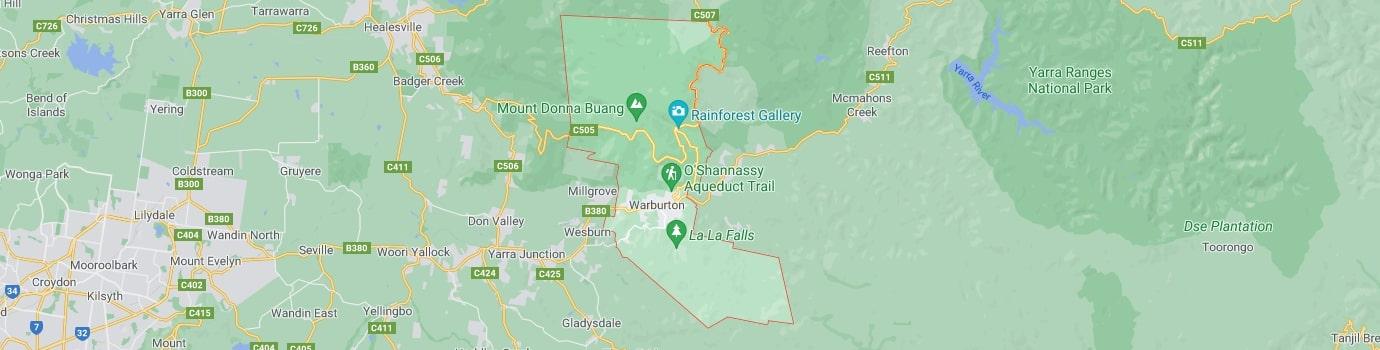 Warburton area map