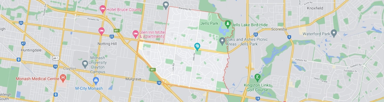 Wheelers Hill area map