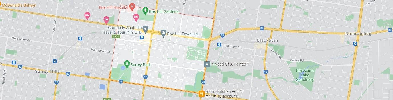 Box Hill area map