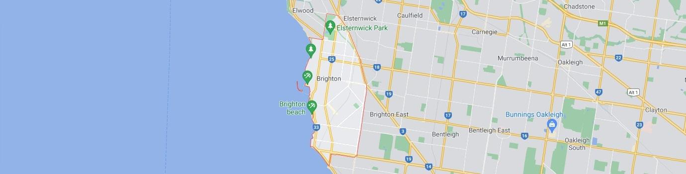 Brighton area map