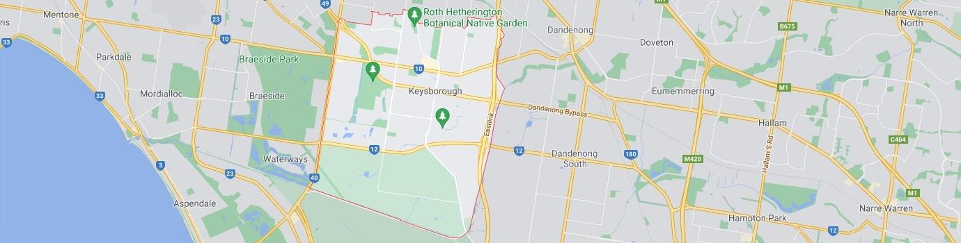 Keysborough area map