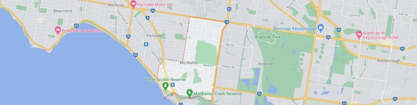 Mordialloc area map