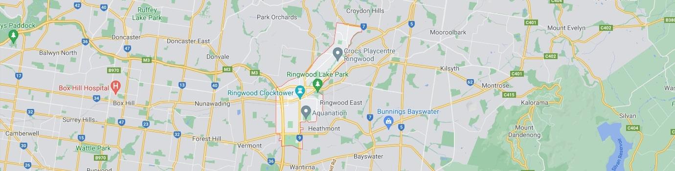 Ringwood area map